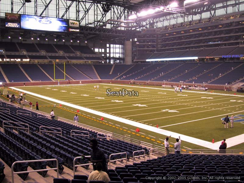 Detroit Lions Ford Field Seating Chart  Interactive Map