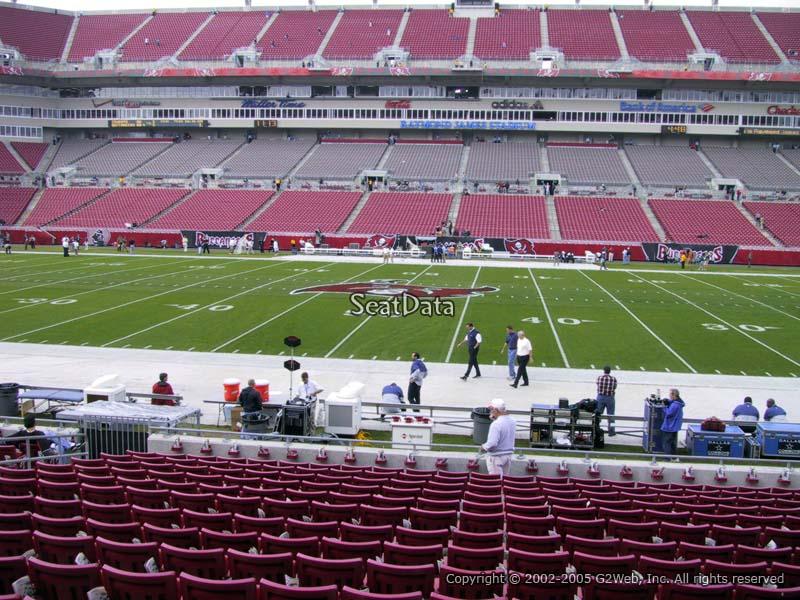 Raymond James Stadium Section 136 - Tampa Bay Buccaneers