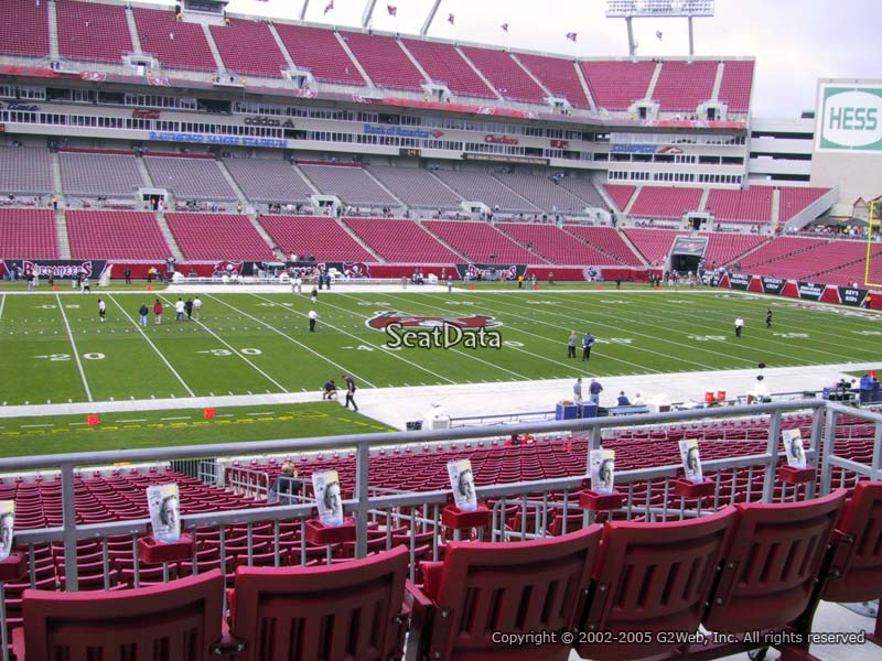 Raymond James Stadium Section 233 - Tampa Bay Buccaneers