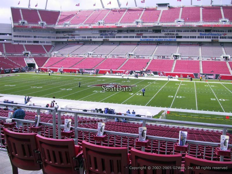 Raymond James Stadium Section 237 - Tampa Bay Buccaneers