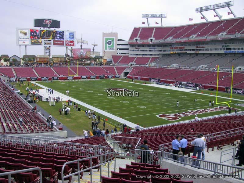 Raymond James Stadium Section 245 - Tampa Bay Buccaneers