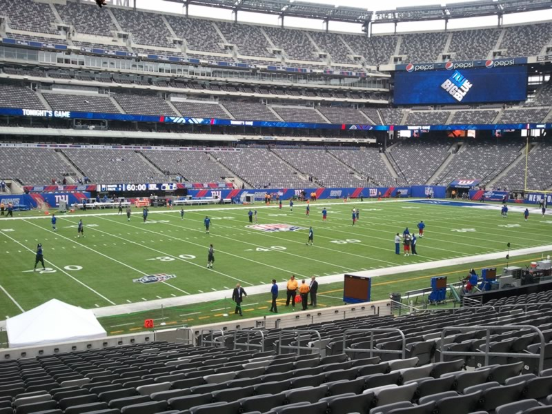 MetLife Stadium Section 116 - Giants/Jets - RateYourSeats