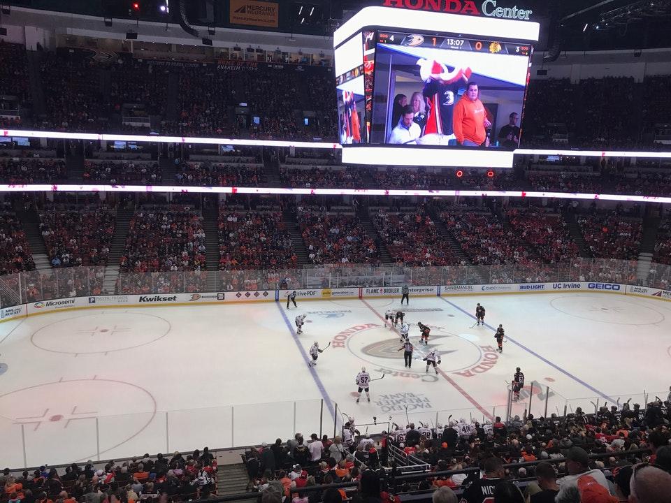 Honda Center Terrace Level Center - Hockey Seating - RateYourSeats