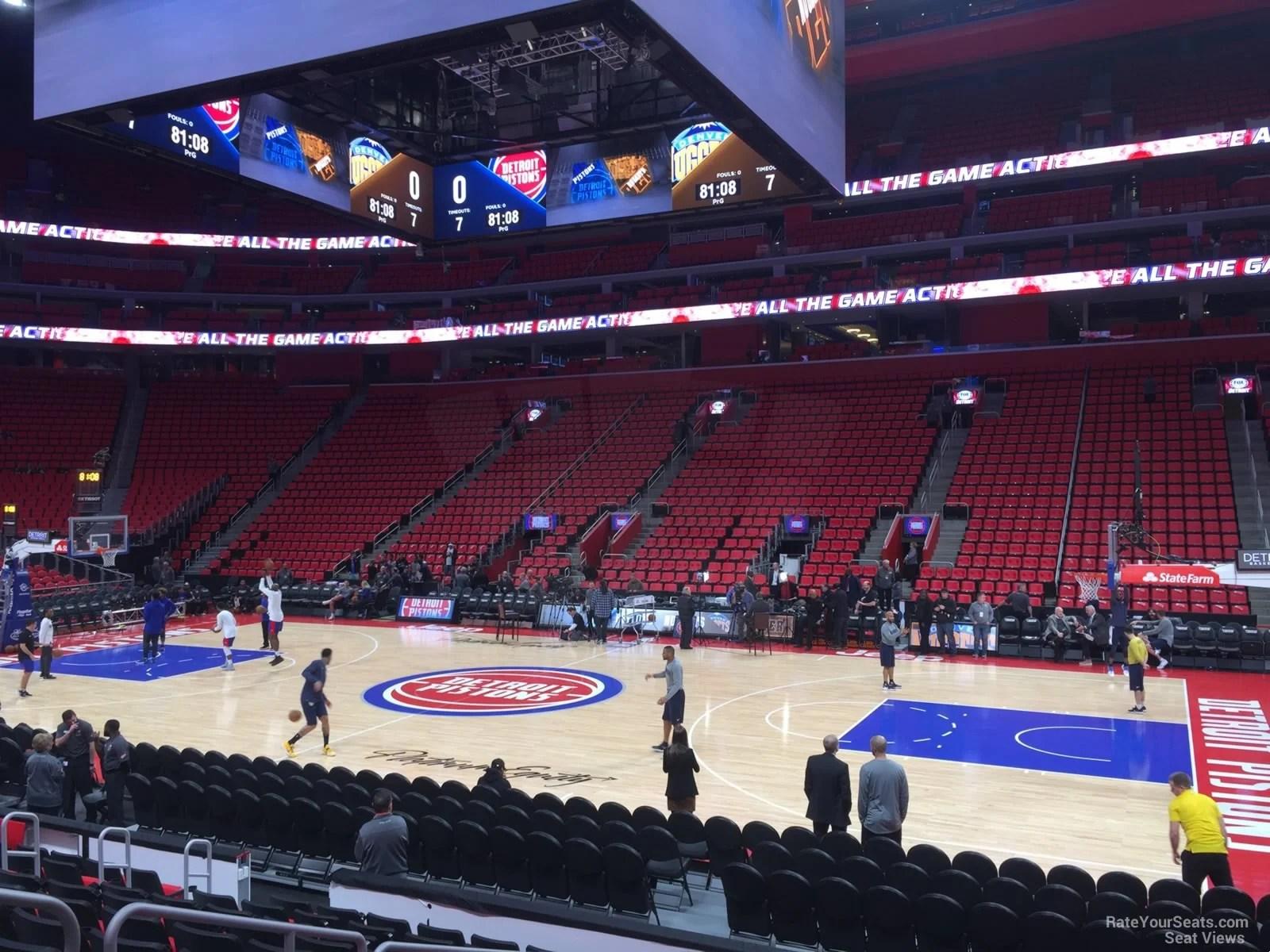 Little Caesars Arena Section 107 Detroit Pistons