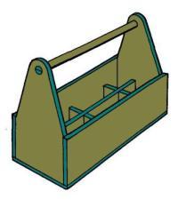 Stabile Werkzeugkiste einfach selber herstellen. Bauanleitung.