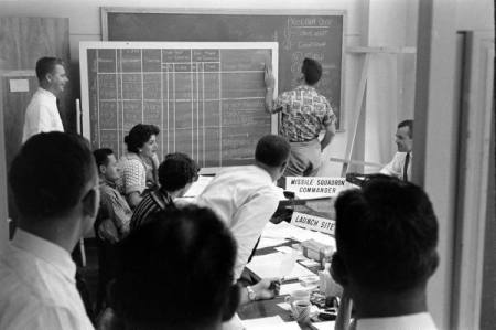 Problem solving at the RAND Corporation in the 1950s. Source: LIFE photo archive hosted by Google.