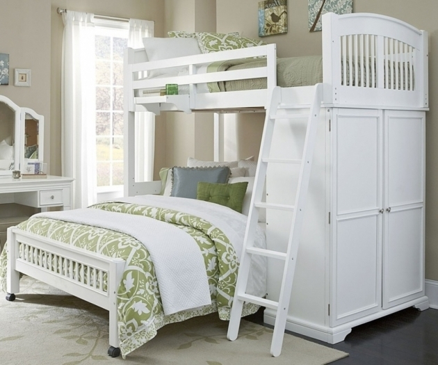 White Full Over Queen Bunk Bed With Stairs Elegant Bedroom
