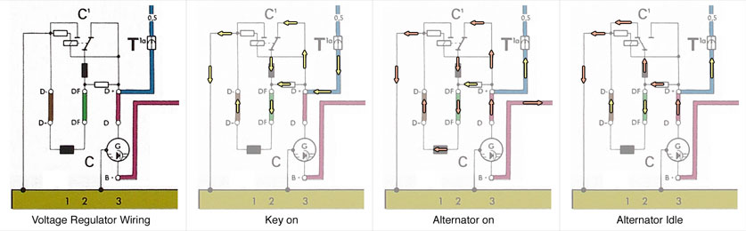 bosch voltage regulator wiring diagram bosch starter motor diagram