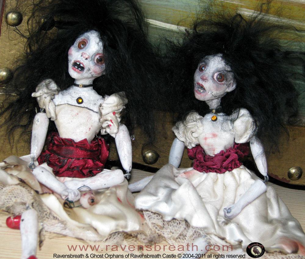 Unusual Girls Wallpaper Ghost Dolls From Ravensbreath Handmade Distressed Cloth