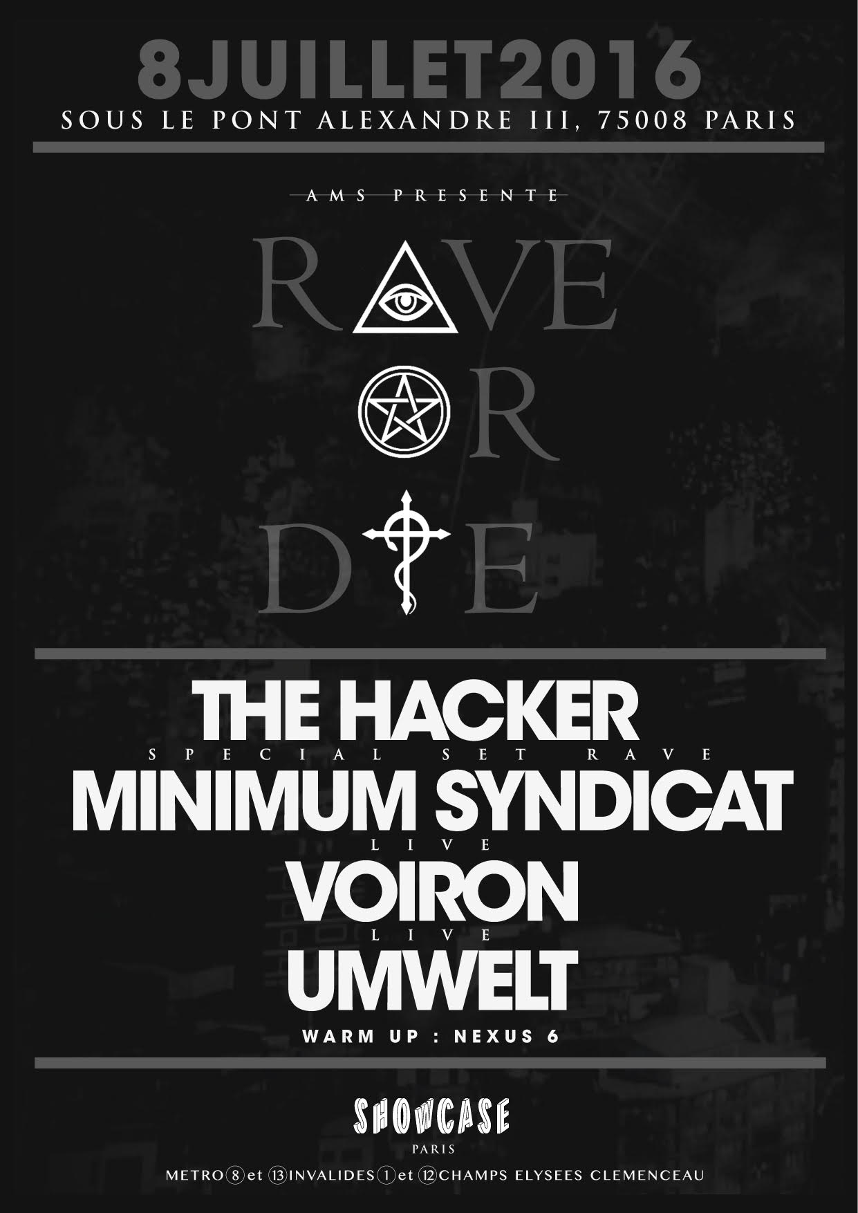 Rave the date: ROD at Showcase – July The 8th Paris