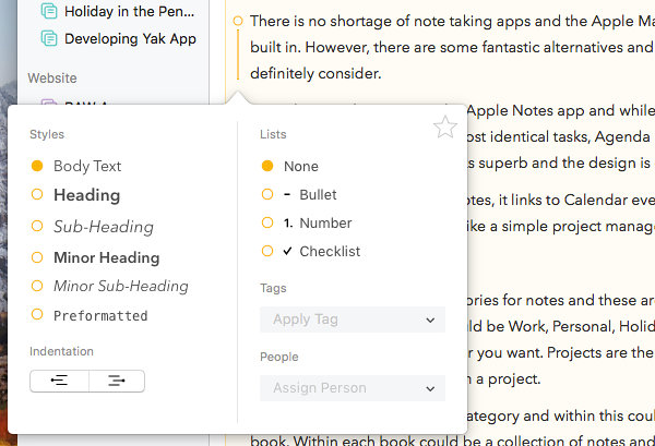 Agenda is a smart alternative to Apple Notes with more features