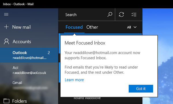 How to use Windows 10 Mail to show important emails and hide others
