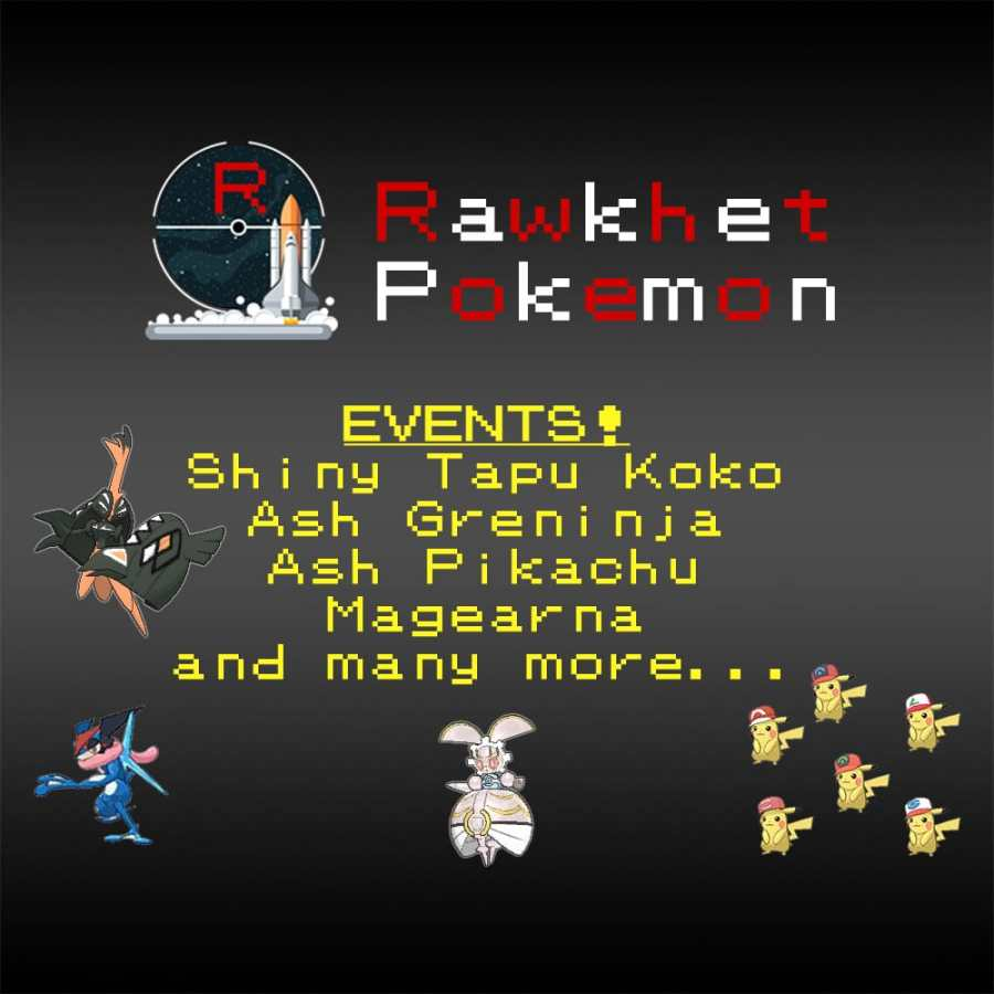Event Pokemon \u2013 6IV, Ash Greninja, Shiny Tapu Koko, Magearna, Ash Pikachu, Lunar Magikarp, and more! \u2013 Pokemon Ultra/Sun/Moon