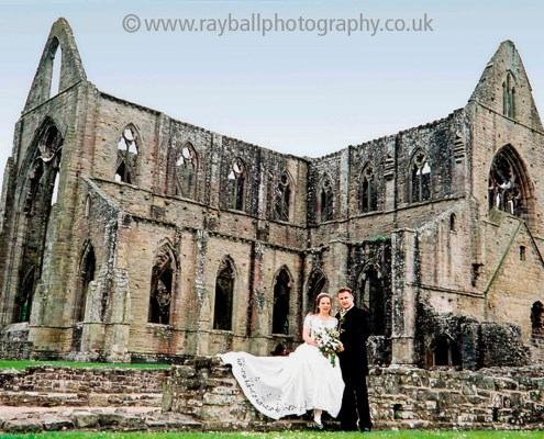 Wedding couple from Farnham, Surrey at Tintern Abbey, Monmouthshire, Wales