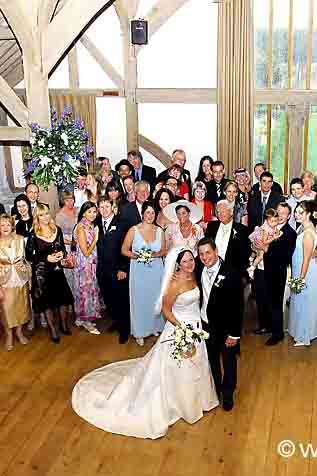Wedding congregation Virginia Water.