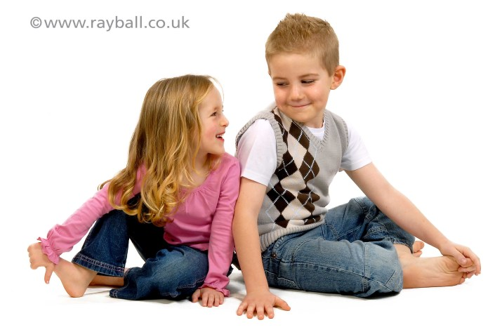 Two children from Cheam at Epsom Photography Studio,
