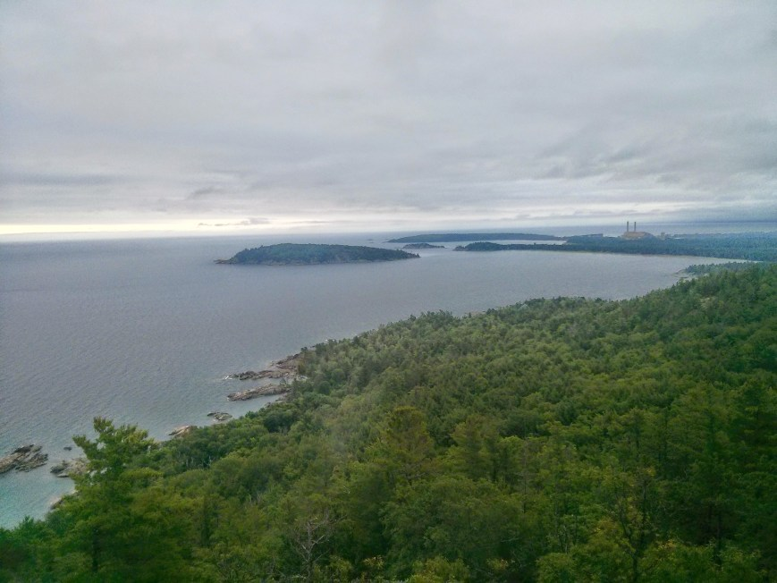 View from atop Sugarloaf with Marquette off in the distance