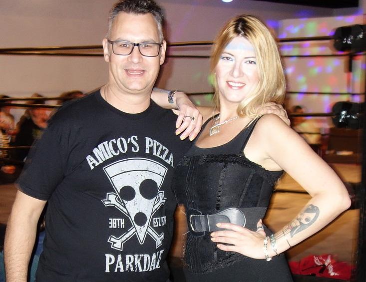 Raymi with Frankie from Amicos Pizza Toronto