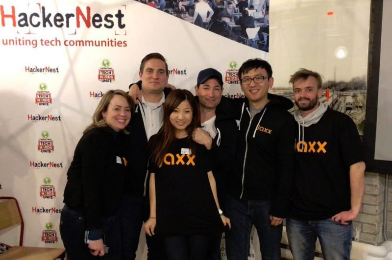 Jaxx cryptocurrency team at HackerNest 2018