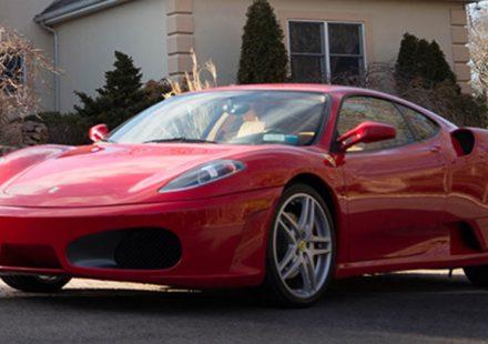 Ferrari F430 de Donald Trump - frente 3/4