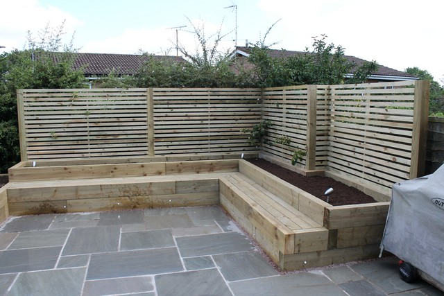 Building Raised Patio Bed Sheffield Landscaper Gallery Patios Decking Ponds Fencing Sleepers