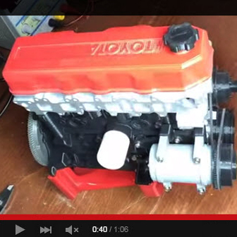 D Printed Engine And Transmission
