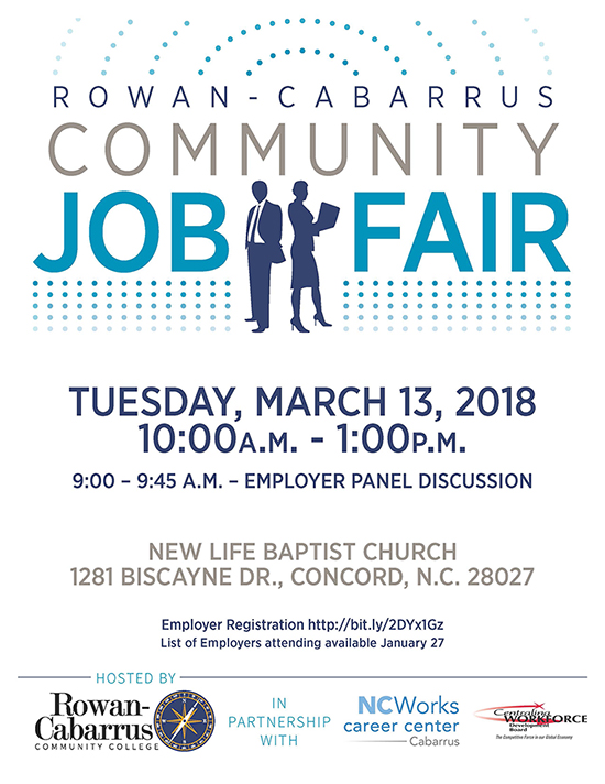 Rowan-Cabarrus Community Job Fair Student Advocacy Services