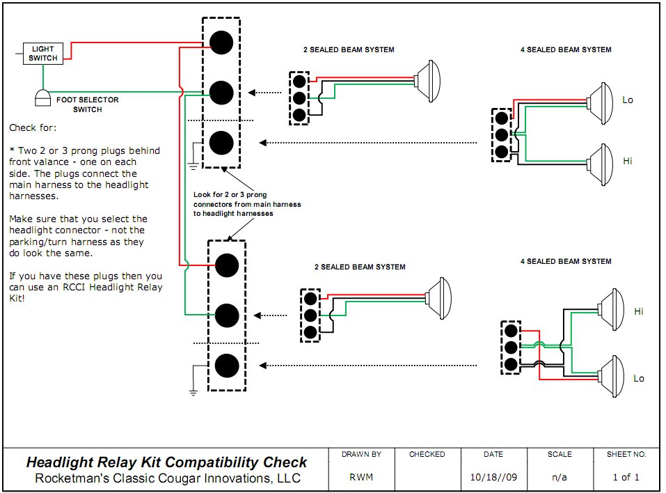 headlight relay wiring kits
