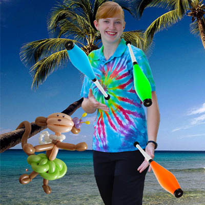 Juggling at the Beach