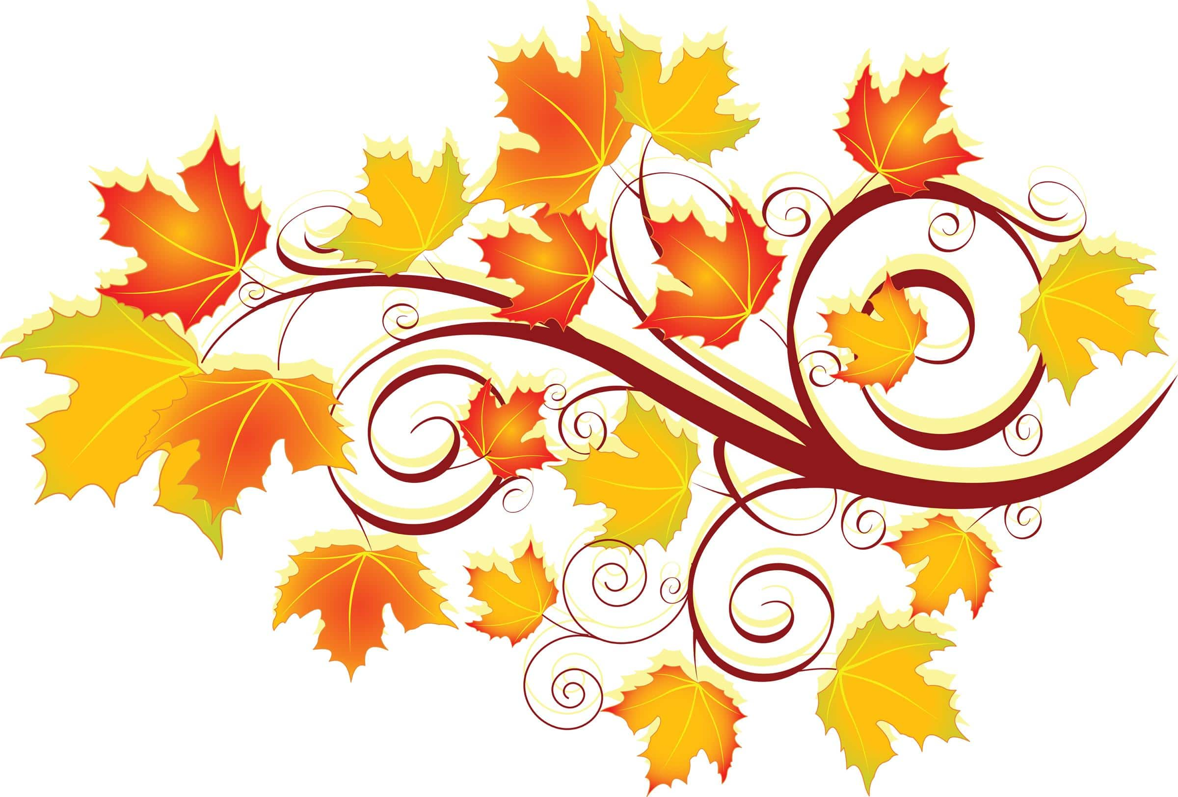 Fall Heart Leaves Background Wallpaper Fall Leaves