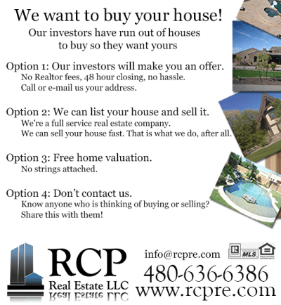 Our investors Want To Buy Your House | San Tan Valley Real Estate Agent | Queen Creek Real ...