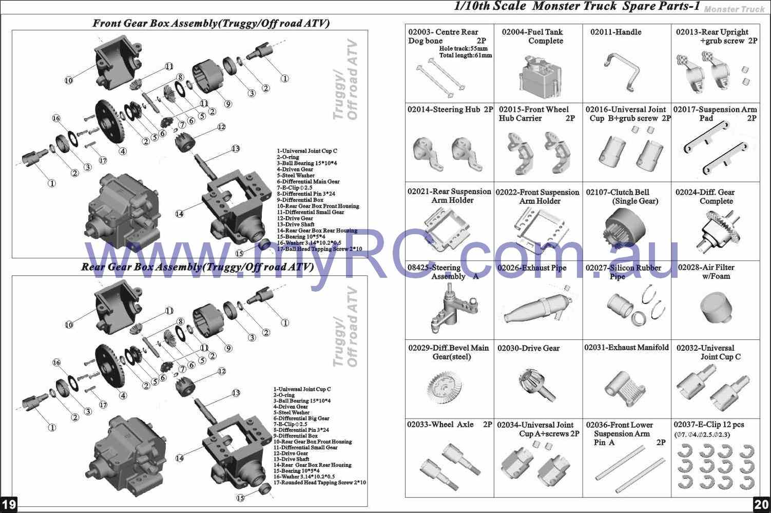 rc truck diagram