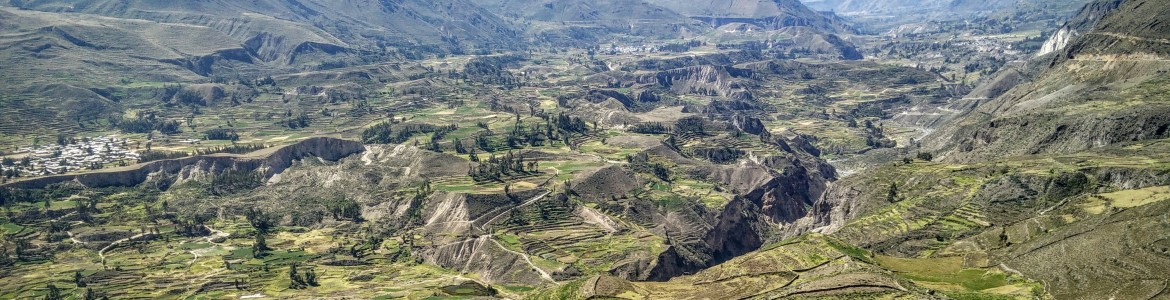 The valley, terraced extensively for farming over many millenia.