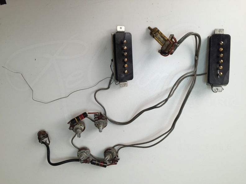 Vintage Pickup  Guitar Repairs / 1954 Gibson P-90s  Wiring Harness