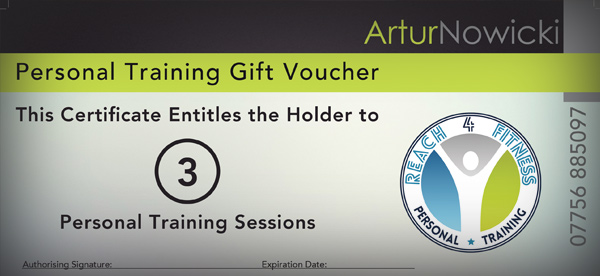 personal training gift certificate - Ozilalmanoof