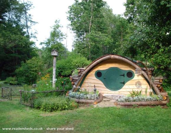 Hobbit Hole Shed - Melissa White Pillsbury
