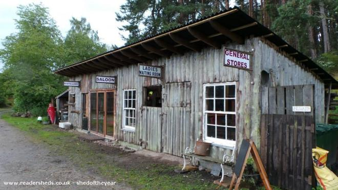 The Inshriach Store, Distillery and Bar - Walter Micklethwait - A farmyard in the Scottish Highlands.