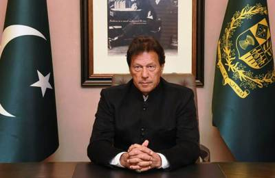 Islamabad: Pakistan's Prime Minister Imran Khan delivers policy statement on Pulwama attack, in Islamabad, Tuesday, Feb 19, 2019. (PID/PTI Photo)  (PTI2_19_2019_000174B)