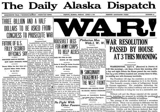 The United States Enters World War I 28 Newspaper Front Pages from