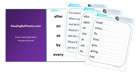 Sight Words List for 1st Grade - Free Flash Cards and Printable - dolch sight word flashcards