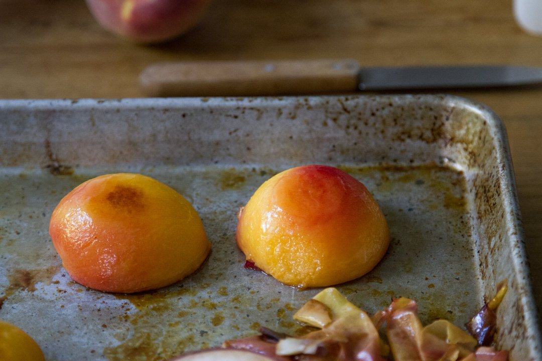 roasted peaches and cashew cream popsicles   reading my tea leaves