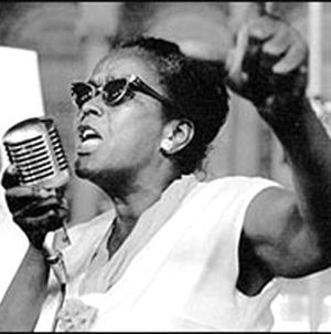 Ella Baker at the height of the civil rights movement.