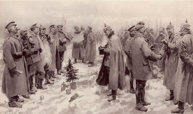 Illustration of the Christmas Truce from The Illustrated London News, January 9, 1915.