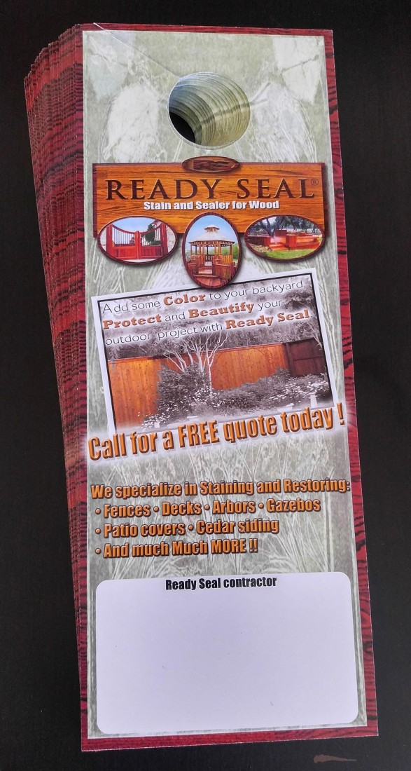 READY SEAL® DOOR HANGERS (100/PACK) *Free Plus S/H Ready Seal