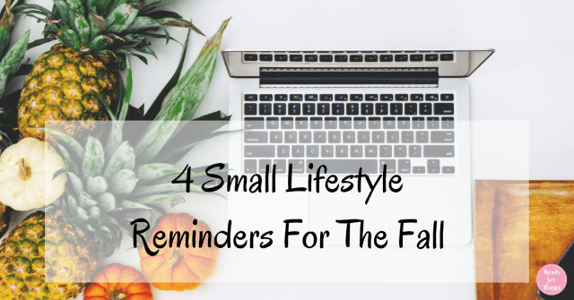 Lifestyle Reminders for Fall