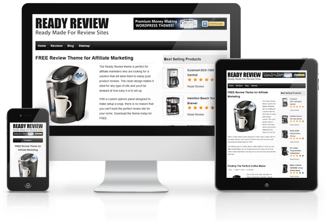 Ready Review Free Theme - product review template