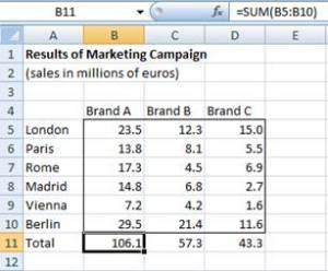 Sample Excel Worksheet