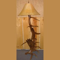 Elk & Moose Antler Floor Lamp