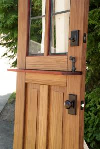 Entry Doors Gallery - Real Carriage Door and Sliding Hardware