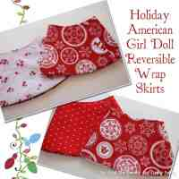 Free Doll Clothes Pattern: Holiday Reversible Wrap Skirt